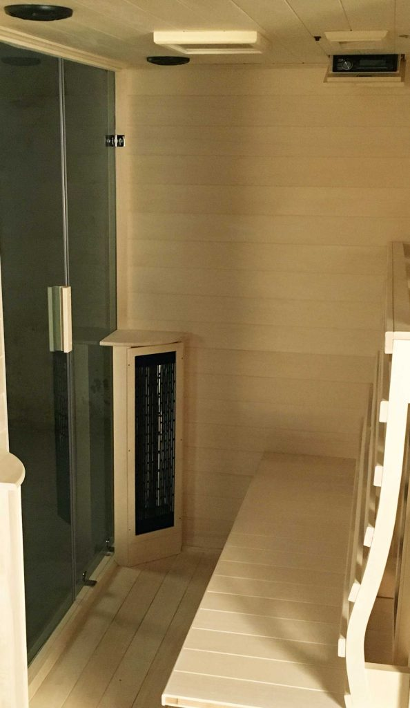 Inside the Transcend TR-3 Sauna
