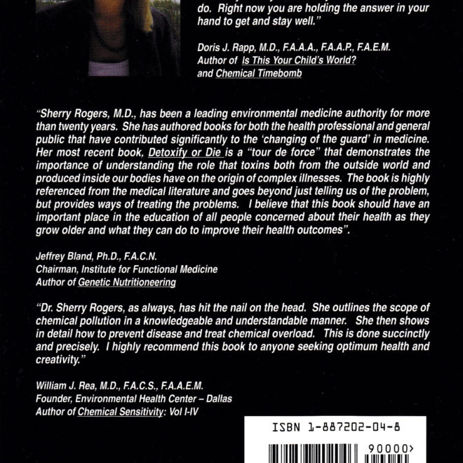 Detoxify or Die by Sherry Rogers MD (back cover)