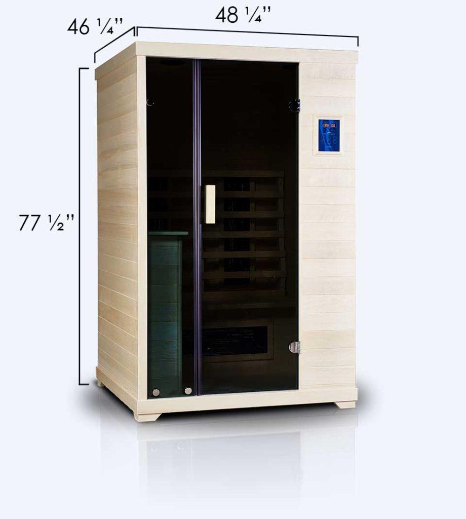 Transcend TR-2 Far Infrared  Sauna Dimensions