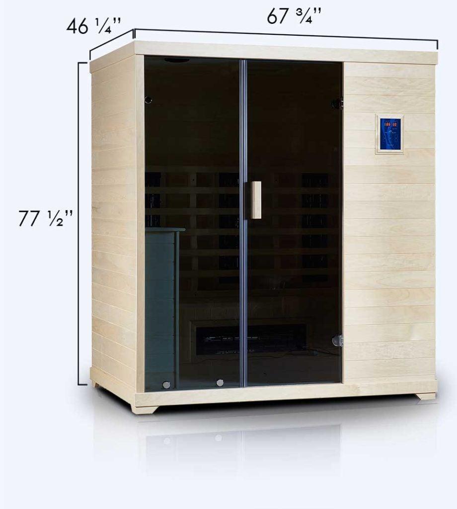 Transcend TR-3 Far Infrared  Sauna Dimensions