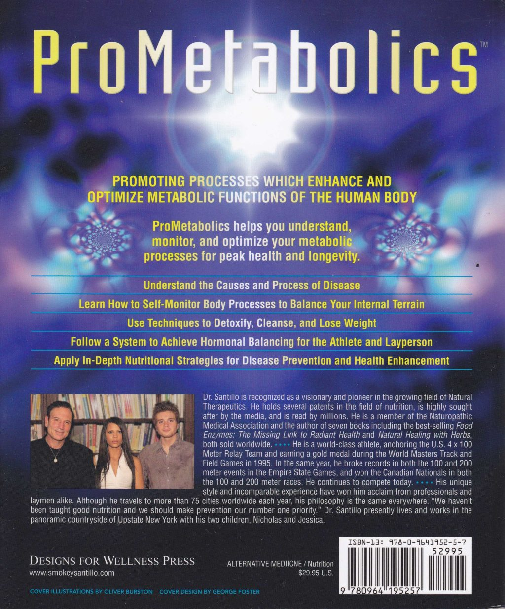 Prometabolics by Humbart Santillo ND (back cover)