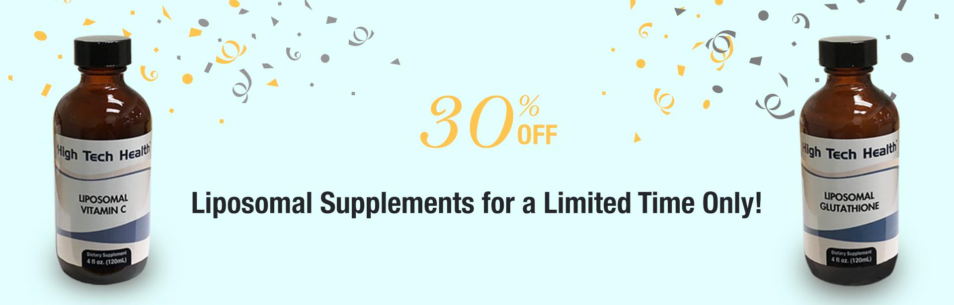 Save 30% on HTH liposomal supplements